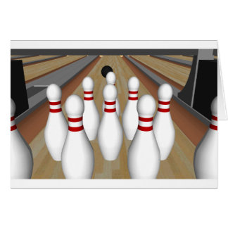 3D Model: Bowling Pins on Lane: Cards