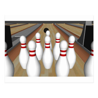 3D Model: Bowling Pins on Lane: Post Cards