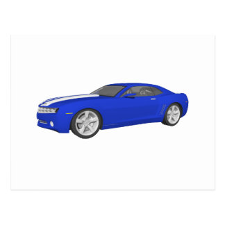 3D Model: Camaro: Sports Car: Postcard