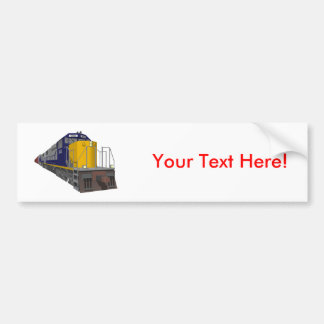 3D Model: Freight Train: Railroad: Bumper Sticker