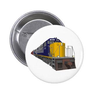 3D Model: Freight Train: Railroad: 2 Inch Round Button