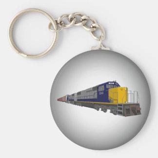 3D Model: Freight Train: Railroad: Keychain