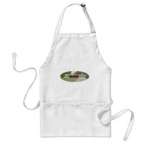 3D Model: Ranch Style House: Aprons