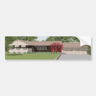 3D Model: Ranch Style House: Bumper Sticker