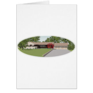 3D Model: Ranch Style House: Card
