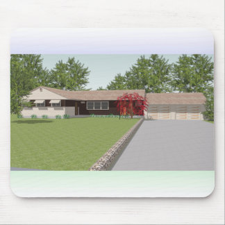 3D Model: Ranch Style House: Mouse Pad