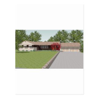 3D Model: Ranch Style House: Postcard