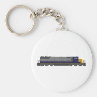 3D Model: Train Engine: Railroad: Keychain