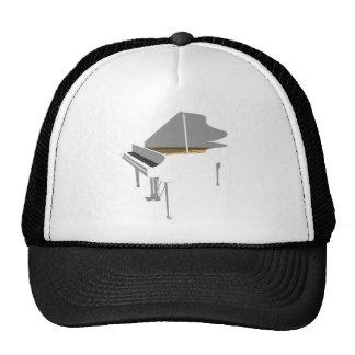 3D Model: White Grand Piano: Trucker Hat