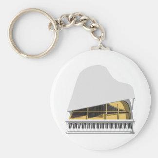 3D Model: White Grand Piano: Keychain