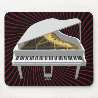 3D Model: White Grand Piano: Mouse Pad