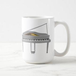 3D Model: White Grand Piano: Coffee Mugs