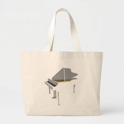 3D Model: White Grand Piano: Tote Bags