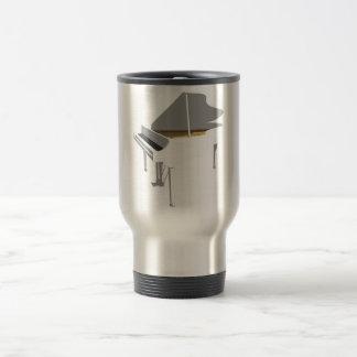 3D Model: White Grand Piano: Travel Mug