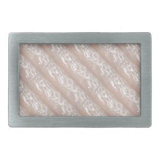 3D Molding : Ivory Silken Sparkle CREAM base Rectangular Belt Buckles