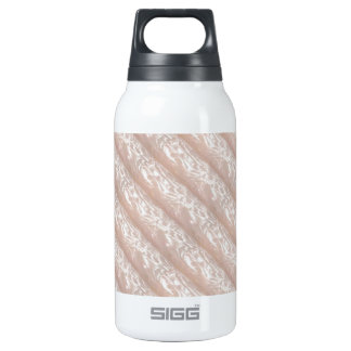 3D Molding : Ivory Silken Sparkle CREAM base Insulated Water Bottle
