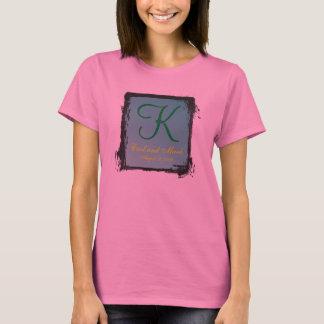 3d Monogram AA sleeve Teal Green T-Shirt