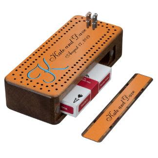 3d Monogram Carrot Cribbage Board