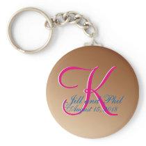 3d Monogram Copper Keychain
