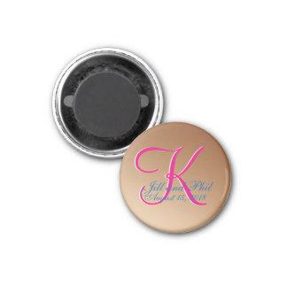 3d Monogram Copper Magnet