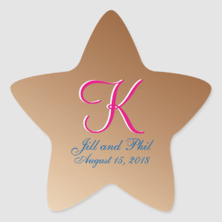3d Monogram Copper Star Sticker