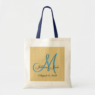 3d Monogram Embossed Gold Budget Tote Bag