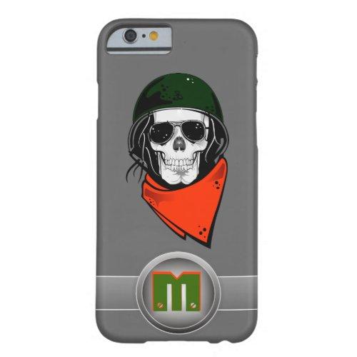 3D Monogram Green Helmet Rebel Skull Phone Case