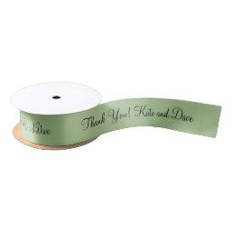3d Monogram Green Shade Light Satin Ribbon