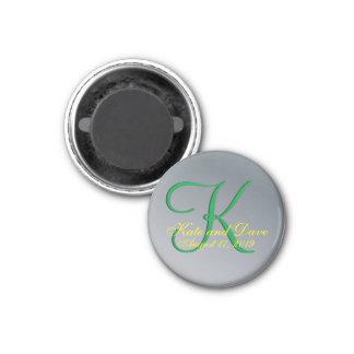3d Monogram Pewter Magnet