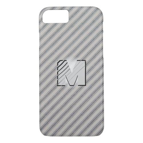 3D Monogram Vintage Gray Cotton Feather Tick Phone Case