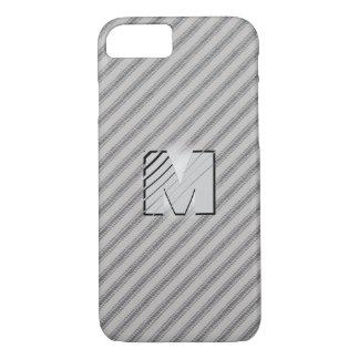 3D Monogram Vintage Gray Cotton Feather Tick iPhone 8/7 Case