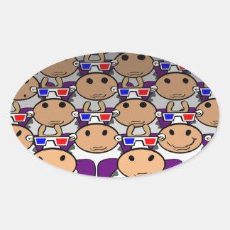 3D MooVie Oval Sticker