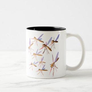 3d mosquitos - caza del insecto taza de café de dos colores