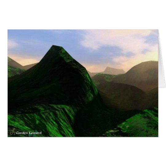 3D Mountains Card