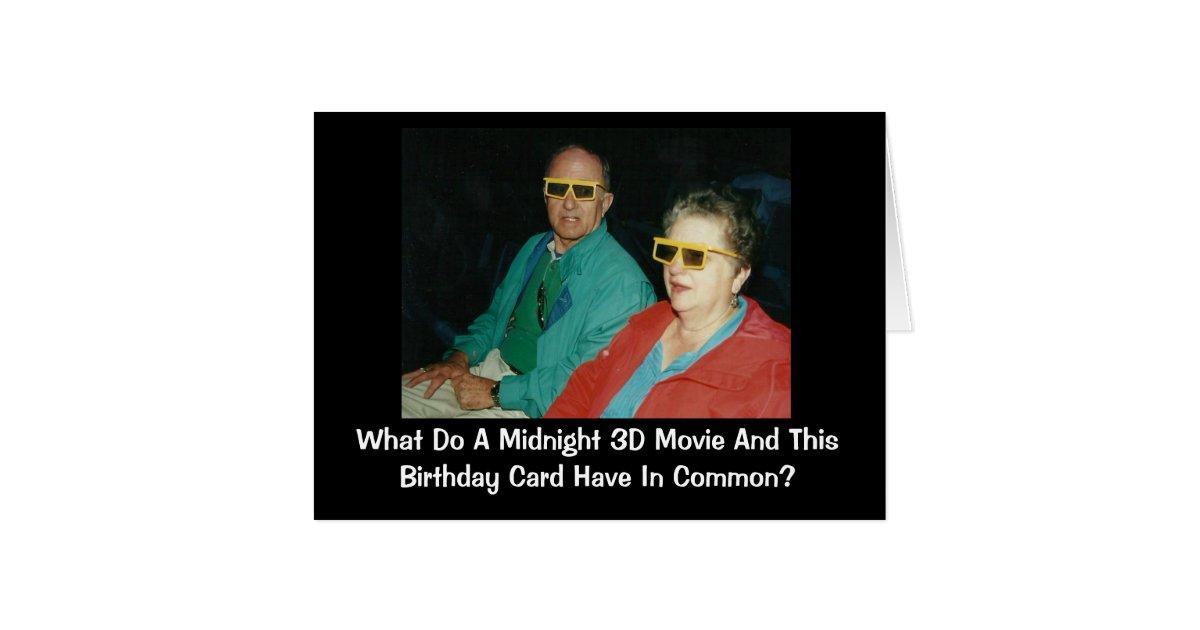 3d movie belated birthday humor card