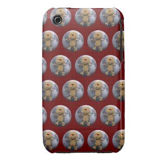 3d Mummy Full Moon (Editable BG Color!) iPhone 3 Covers