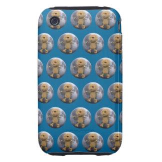 3d Mummy Full Moon (Editable BG Color!) iPhone 3 Tough Cases