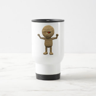 3d Mummy Haunts 15 Oz Stainless Steel Travel Mug