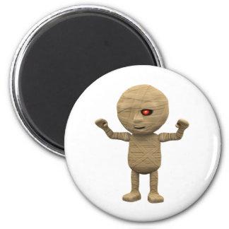 3d Mummy Haunts 2 Inch Round Magnet