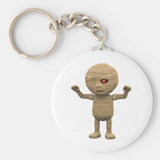 3d Mummy Haunts Basic Round Button Keychain