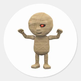 3d Mummy Haunts Classic Round Sticker