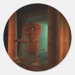 3d-mummy-tomb round sticker