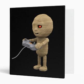 3d mummy videogamer (Any Color U Like!) 3 Ring Binder