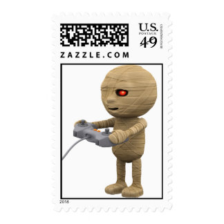 3d mummy videogamer (Any Color U Like!) Postage