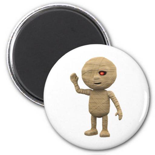 3d-mummy-wave refrigerator magnets