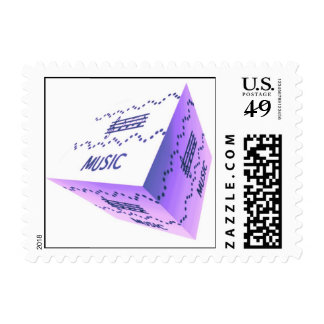 3D Music Cube Postage