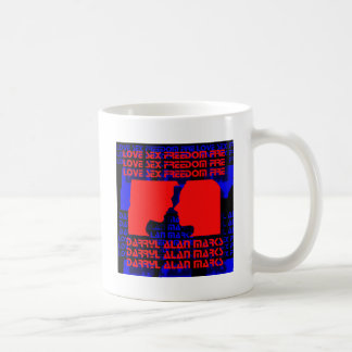 3D Music Video Blue and Red Coffee Mug
