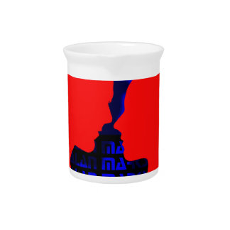 3D Music Video Blue and Red Drink Pitcher