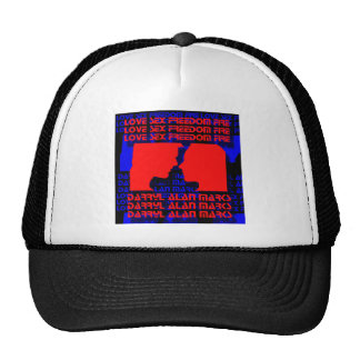 3D Music Video Clip Red and Blue Optical Illusion Trucker Hat