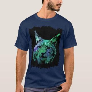 3D mystical Galaxy Lynx  colorful Fantasy Wild Cat T-Shirt